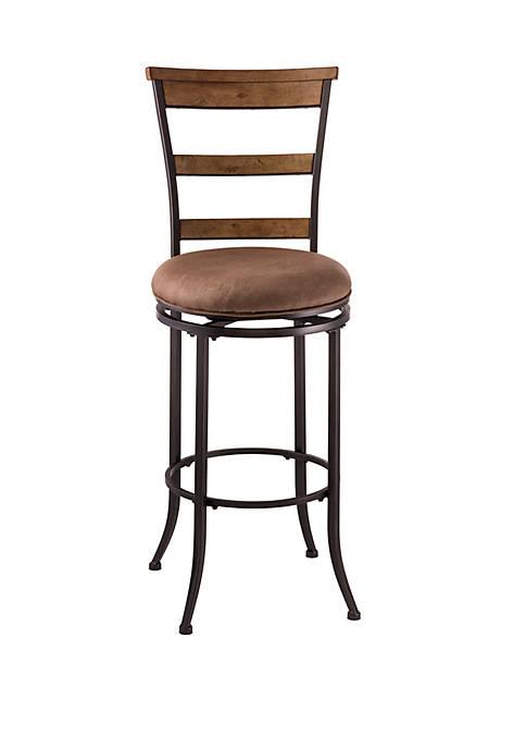 Hillsdale Furniture Charleston Swivel Ladder Back Counter Height
