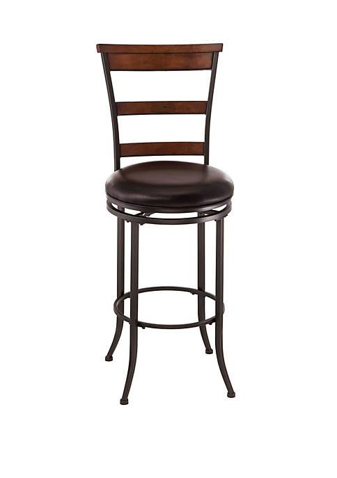 Hillsdale Furniture Cameron Swivel Ladder Back Bar Height