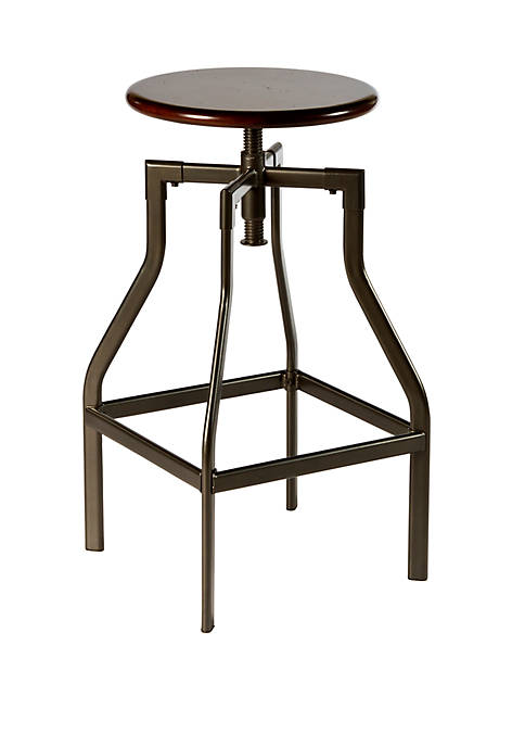 Hillsdale Furniture Cyprus Adjustable Backless Bar Stool
