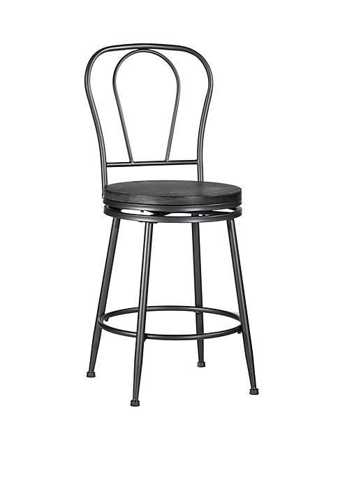 Hillsdale Furniture Melange Metal Back Swivel Counter Height