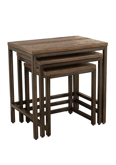 Hillsdale Furniture Set of 3 Castille Nesting Tables