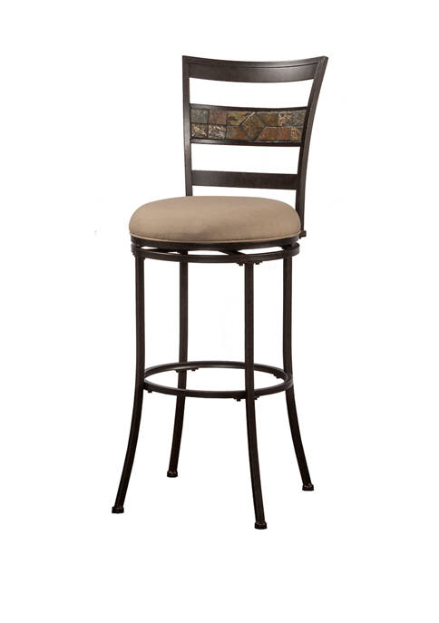 Hillsdale Furniture Indoor / Outdoor Henning Swivel Stool,