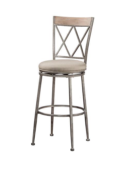 Hillsdale Furniture Stewart Indoor/Outdoor Swivel Counter Height