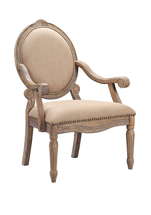 Madison Park Brentwood Exposed Wood Arm Chair