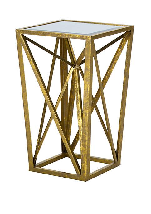 Madison Park Zee Angular Mirror Accent Table
