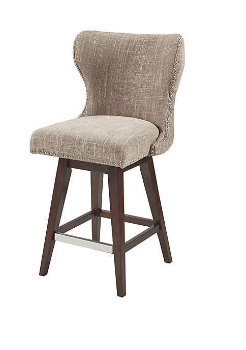 Madison Park Hancock High Wingback Button Tufted Upholstered