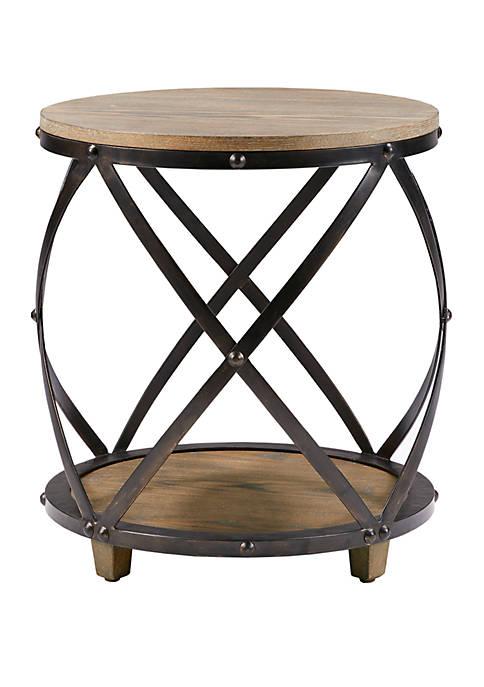Cirque Bent Metal Accent Table