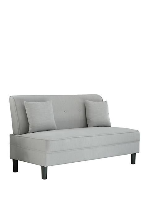 Abbyson Agate Fabric Armless Sofa