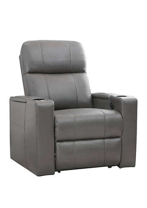 Abbyson Cologne Power Leather Recliner with 1 Table