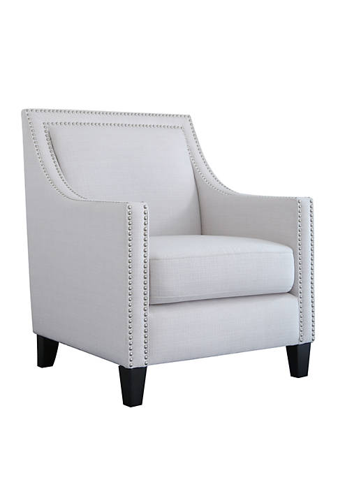 Abbyson Maxine Nailhead Accent Chair
