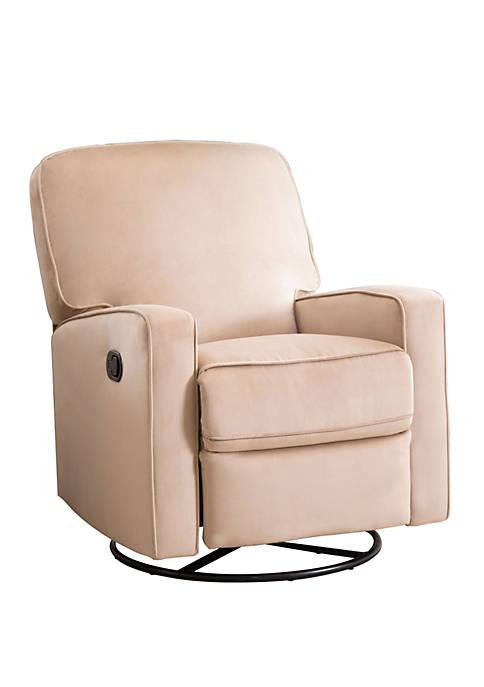Abbyson Orlando Fabric Swivel Glider Recliner Chair