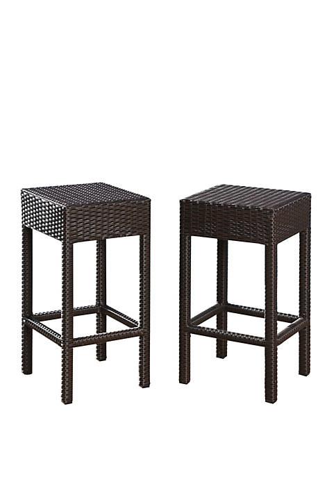 Sullivan Outdoor Wicker Barstools Set of 2