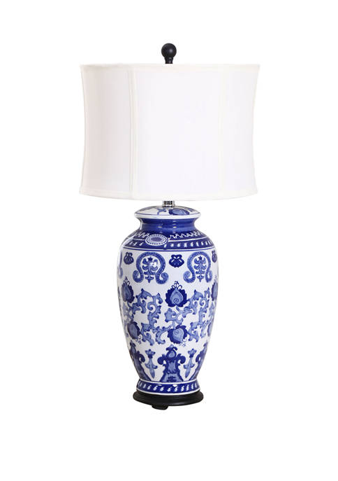 Abbyson Hand Painted Asian Table Lamp