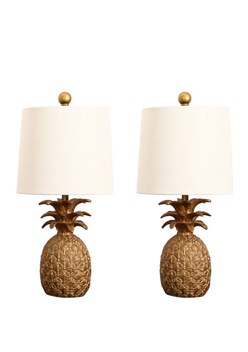 Abbyson Polyester Resin Pineapple Table Lamp