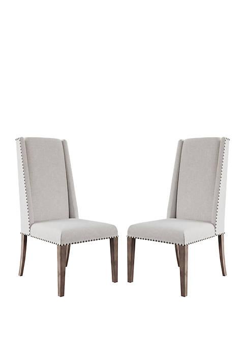 Abbyson Cleo Cream Acacia Dining Chair Set of
