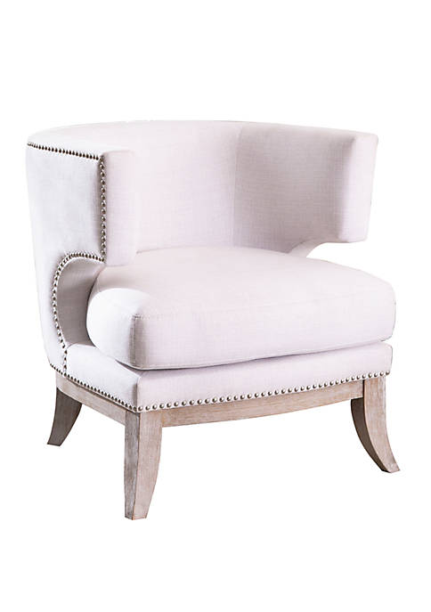 Charlize Ivory Upholstered  Accent Chair