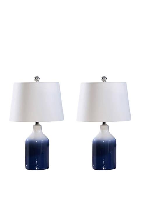 Abbyson Set of 2 Mikonos Ceramic Table Lamp