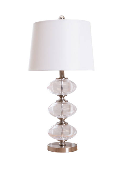 Abbyson Malaga Glass Table Lamp
