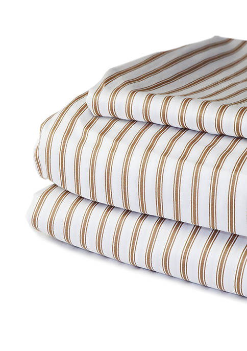 Beacon Linens 300 Thread Count Ticking Stripe Sheet