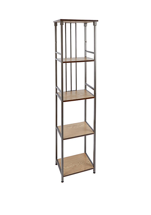 Mixed Material Bathroom Collection 5 Tier Shelf
