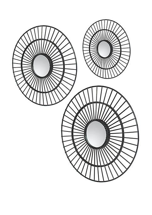 Silverwood Delgado Sunburst Mirrors Set of 3