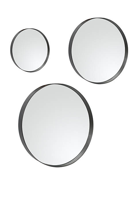 Silverwood Set of 3 Paxton Round Wall Mirrors