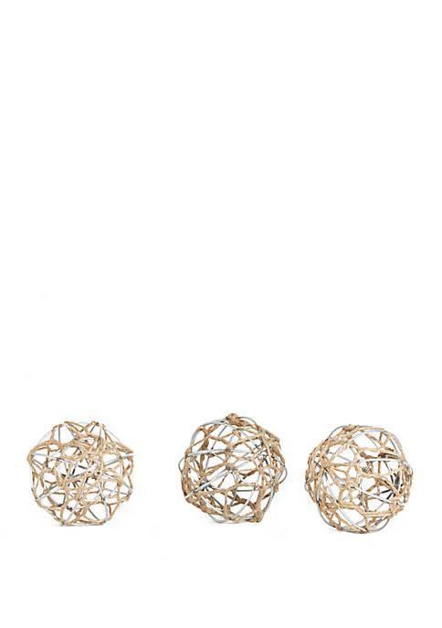 Silverwood Nauticus Rope Spheres Set of 3
