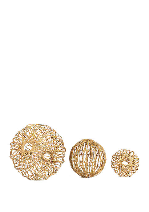 Andre Rope Spheres Set of 3