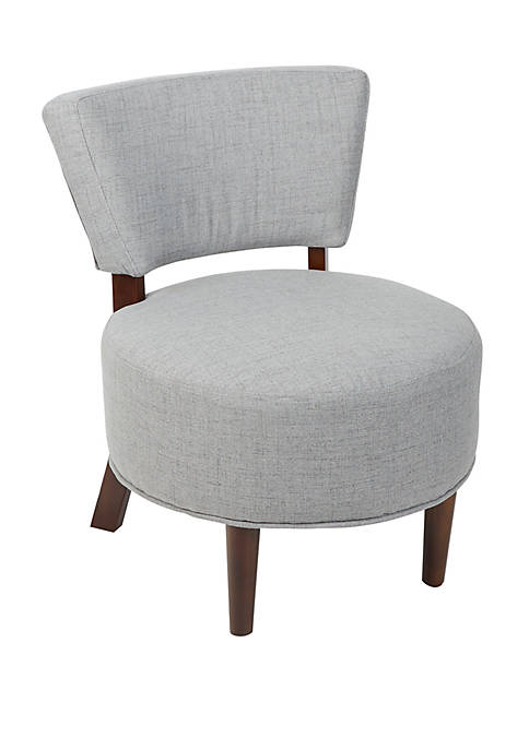 Molly Modern Armless Occasional Chair with Round Seat