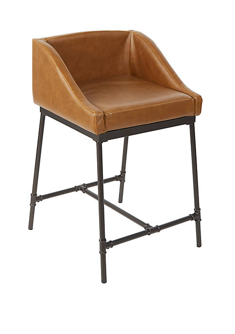 Silverwood 24 Inch Renzo Industrial Pipe Square Barstool
