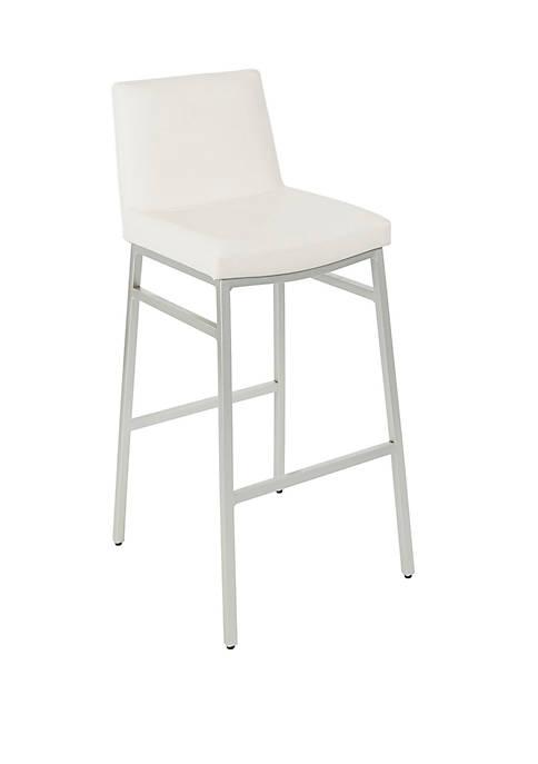 39 Inch Norton Upholstered Square Back Metal Barstool