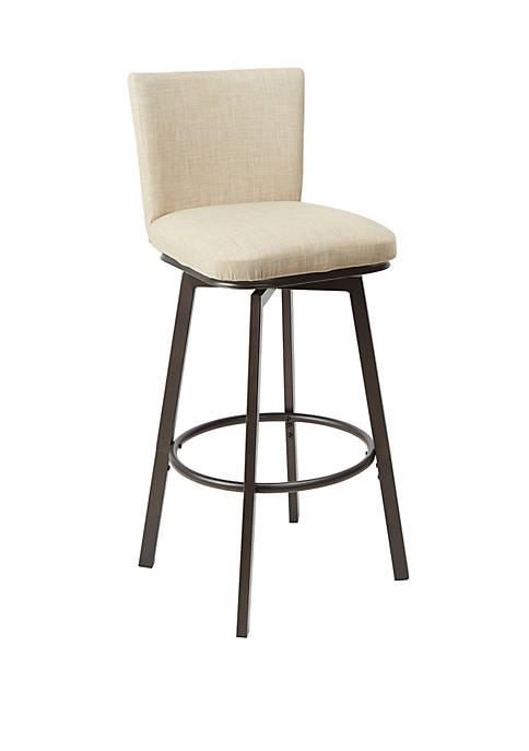 Reuben Upholstered Barstool with Adjustable Height Metal Frame
