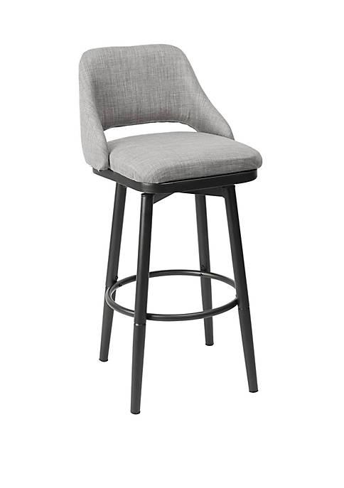 Silverwood Ari Adjustable Height Gray Upholstered Barstool in