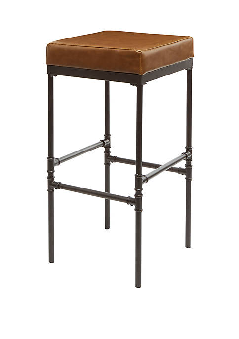 Powell 29 Inch Pipe Fitting Upholstered Barstool