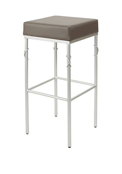 Gwyneth Upholstered Square Backless Barstool