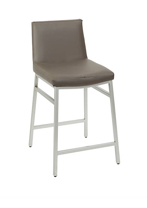 24 Inch Norton Upholstered Square Back Barstool