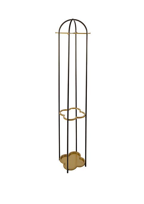 Phoebe Metal Coat Rack with Quatrefoil Umbrella Stand
