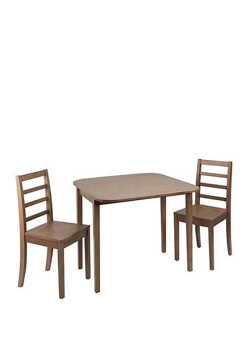 Mason 3 Piece Drop Leaf Dining Set with Ladderback Chairs