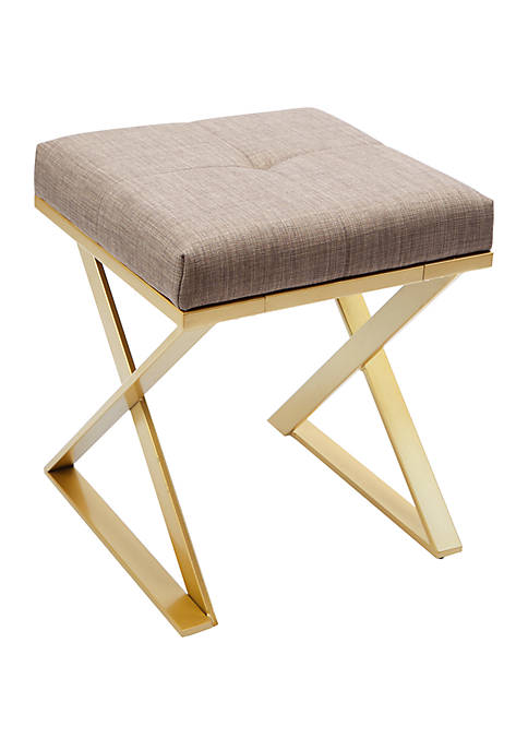 Tatum Gold X Base Vanity Square Bench