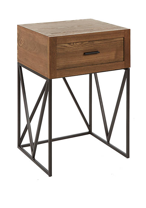 Bowie 1 Drawer Industrial Truss End Table