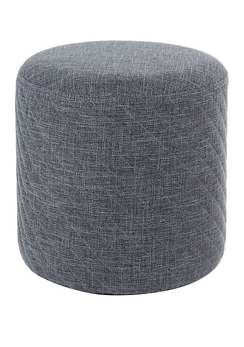 Silverwood Claudia Diamond Stitched Round Ottoman