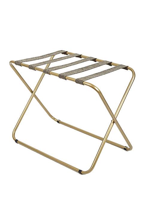 Silverwood Rhys Metal Folding Luggage Rack in Gold