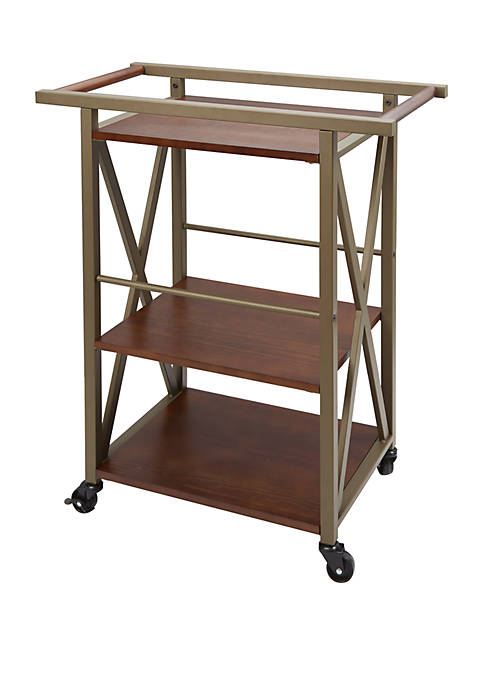 Silverwood Orwell 3 Tier Square Bar Cart