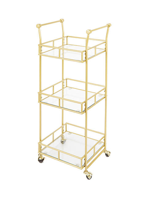 Silverwood Collier 3 Tier Square Bar Cart