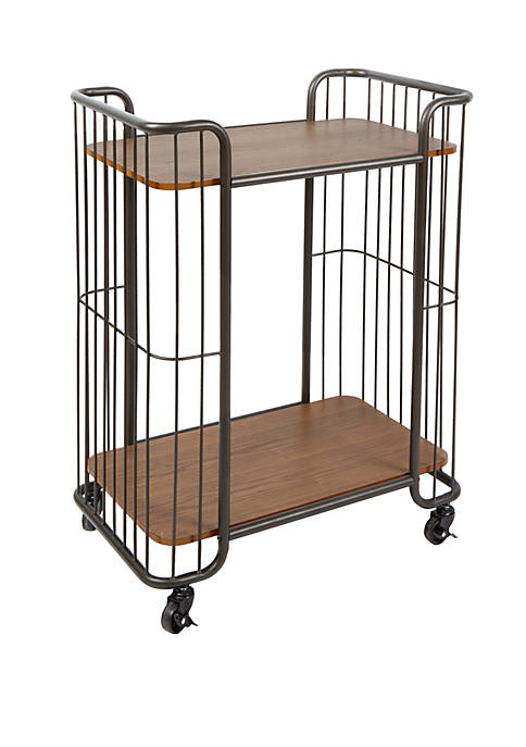 Silverwood Bowlin Industrial 2 Tier Caged Serving Cart