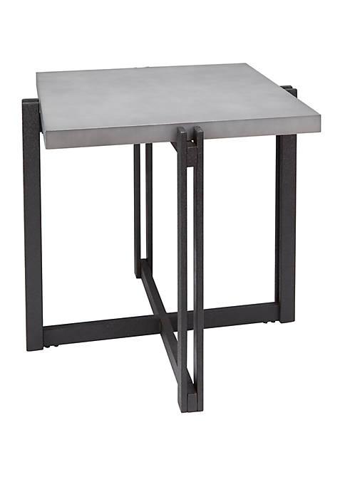 Silverwood Dakota End Table with Square Concrete Finish