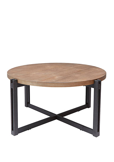 Dakota Coffee Table with Round Wood Top