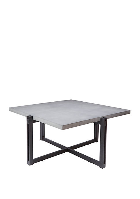 Silverwood Dakota Coffee Table with Square Concrete Finish