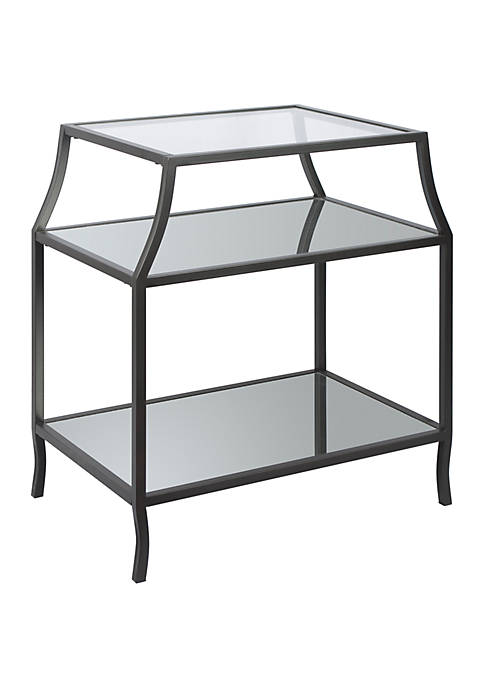 Adele Soft Curve Glass Mirror End Table