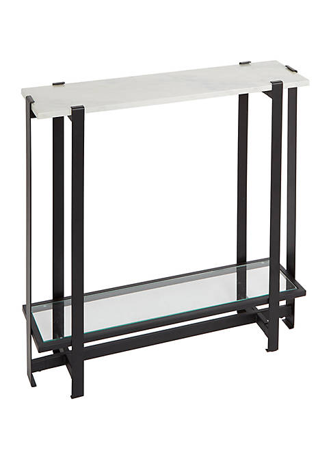 Silverwood Moira Slim Console Table with Faux Marble